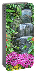 Butchart Gardens Waterfall Portable Battery Charger by Wendy McKennon