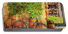 Portable Battery Charger featuring the photograph Butcher Shop Bicycle by Craig J Satterlee