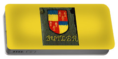 Portable Battery Charger featuring the painting Butler Family Shield by Barbara McDevitt