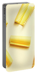 Butter Curls On White Background Portable Battery Charger