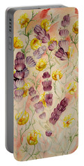 Buttercups And Lavendar Portable Battery Charger