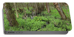 Buttercups In Wetlands Portable Battery Charger by Michal Boubin