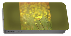 Buttercups Portable Battery Charger by Lyn Randle