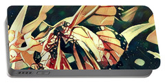 Butterfies In Love Abstract Portable Battery Charger by David Mckinney