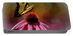 Butterflies And Cone Sflowers Portable Battery Charger