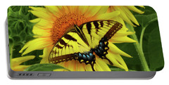 Butterflies And Sunflowers Portable Battery Charger
