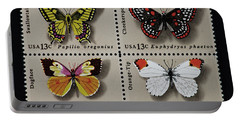 Butterflies Postage Stamp Print Portable Battery Charger