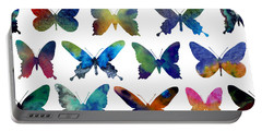 Butterflies Portable Battery Charger by Varpu Kronholm