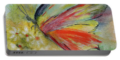 Portable Battery Charger featuring the painting Butterfly 3 by Karen Fleschler