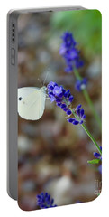 Butterfly And Lavender Portable Battery Charger