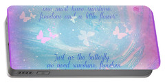 Portable Battery Charger featuring the digital art Butterfly And We by Sherri Of Palm Springs