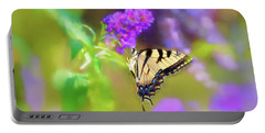 Portable Battery Charger featuring the photograph Butterfly Art - Eastern Tiger Swallowtail by Kerri Farley