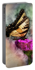 Butterfly Art Portable Battery Charger by Ron Grafe