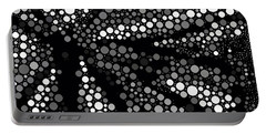 Butterfly Black And White Abstract Portable Battery Charger