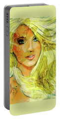 Butterfly Blonde Portable Battery Charger