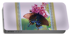 Portable Battery Charger featuring the photograph Butterfly Blues II by Shirley Moravec