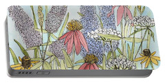 Butterfly Bush In Garden Portable Battery Charger