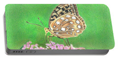 Butterfly Bush Portable Battery Charger by Troy Levesque