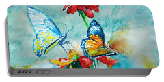 Butterfly Dance Portable Battery Charger by Jasna Dragun