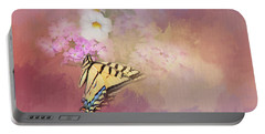 Butterfly Dreams Portable Battery Charger by Theresa Tahara