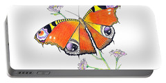 Butterfly Dressed For A Masquerade Ball Portable Battery Charger
