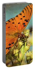 Butterfly Enjoying The Nectar Portable Battery Charger by Scott and Dixie Wiley
