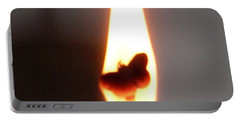 Butterfly Flame Close Up Portable Battery Charger