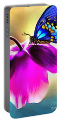 Butterfly Floral Portable Battery Charger