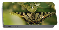 Portable Battery Charger featuring the photograph Butterfly From Another Side by Susan Capuano