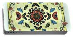Portable Battery Charger featuring the digital art Butterfly Garden Abstract by Deborah Smith