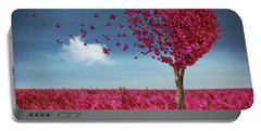 Butterfly Heart Tree Portable Battery Charger
