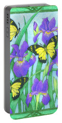 Butterfly Idyll-irises Portable Battery Charger