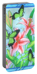 Butterfly Idyll- Lilies Portable Battery Charger