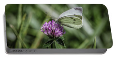 Portable Battery Charger featuring the photograph Butterfly In Love by Ray Congrove