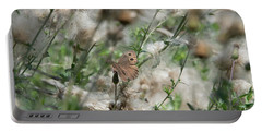 Butterfly In Puffy Seed Heads Portable Battery Charger