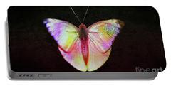 Butterfly In Retro  Portable Battery Charger