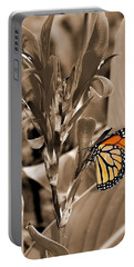 Butterfly In Sepia Portable Battery Charger