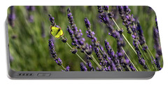 Butterfly N Lavender Portable Battery Charger
