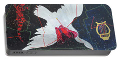 Portable Battery Charger featuring the painting Butterfly Nebula by Denise Weaver Ross