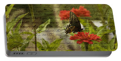 Butterfly Notes Portable Battery Charger
