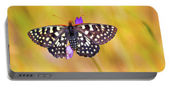 Butterfly On A Lupine Portable Battery Charger
