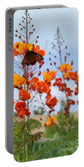 Butterfly On Bird Of Paradise Portable Battery Charger