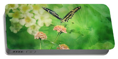 Butterfly On Lantana Montage Portable Battery Charger