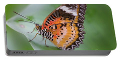 Butterfly On The Edge Of Leaf Portable Battery Charger