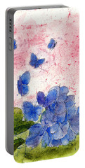 Butterflies Or Hydrangea Flower, You Decide Portable Battery Charger