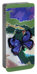 Butterfly Over Great Lakes Portable Battery Charger