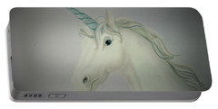 Butterfly Resting On Unicorn Portable Battery Charger