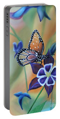 Portable Battery Charger featuring the painting Butterfly Series#4 by Dianna Lewis
