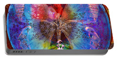 Butterfly Sisterly City Love Portable Battery Charger by Joseph Mosley