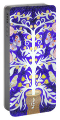 Portable Battery Charger featuring the painting Butterfly Sonata by Lise Winne